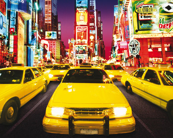 Poster Times square - taxi
