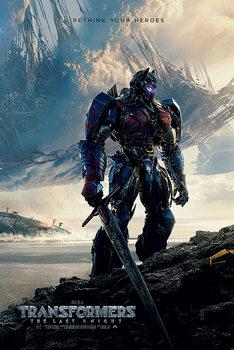 Póster Transformers: El último caballero - Rethink Your Heroes