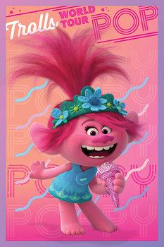 Póster Trolls 2: Gira mundial - Poppy
