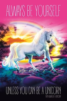 Póster Unicorn - Always Be Yourself