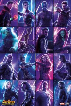 Póster Vengadores Infinity War - Heroes