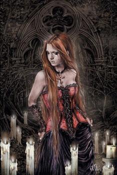Poster Victoria Frances - red basque