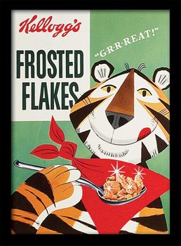 Vintage Kelloggs - Frosted Flakes ingelijste poster met glas