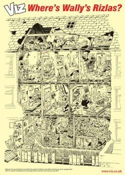 Poster VIZ - Wally's Rizla's