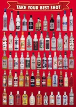 Poster Vodka bottles - take your best
