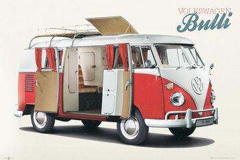 VW Volkswagen Camper - Bulli Poster / Kunst Poster