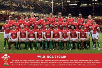 Póster  Wales - 2008/2009 Team