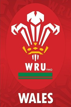 Poster Wales R.U - crest