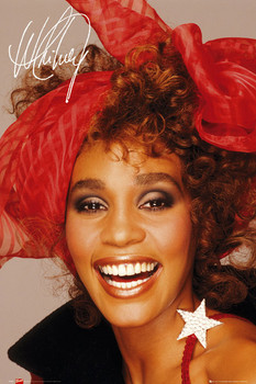 Poster  Whitney Houston - scarf
