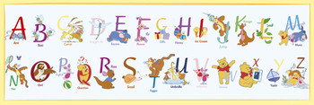 Poster WINNIE THE POOH - alphabet