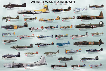 Póster  World war II - aircraft