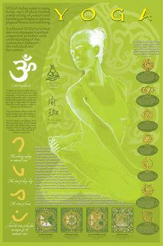 Poster Yoga and its symbols