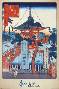 Póster Yoshitaki - The Temple of Amida Pond