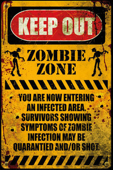 Póster Zombie - keep out