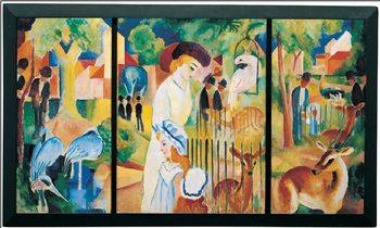Zoological Garden, 1914 Kunstdruk