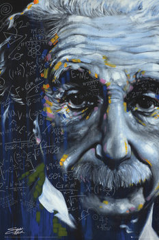 Albert Einstein - It's All Relative, Fishwick Poster