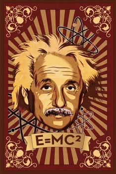 Albert Einstein - mural Poster