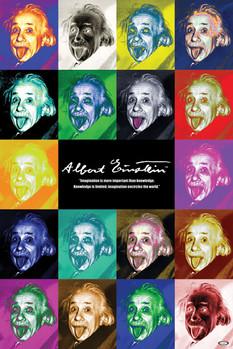 Albert Einstein - pop art Poster