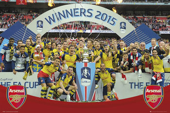 Arsenal FC - FA Cup Winners 14-15 Poster