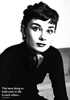 Poster Audrey Hepburn - Quote