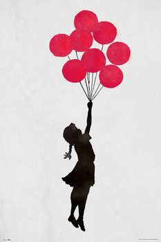 Banksy - Floating Girl Poster
