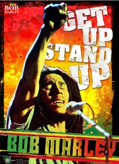 Bob Marley - get up stand up Poster 3D