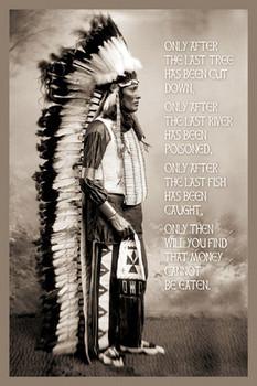 CHIEF WHITE CLOUDS SPEAK Poster