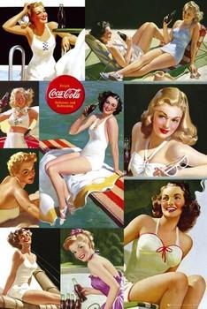 Coca Cola - girl colour collage Poster