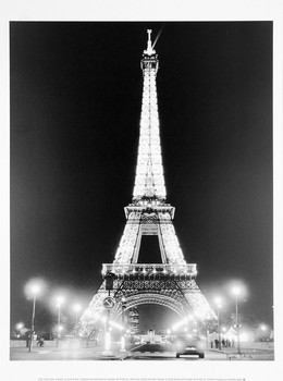 Eiffel Tower at Night Reproducere