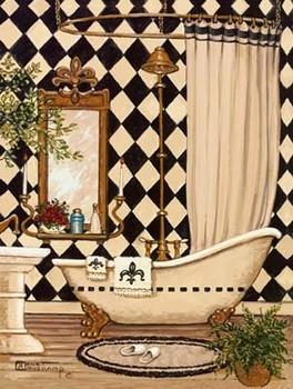 Elegant Bath I Reproducere