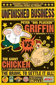 FAMILY GUY - chicken fight Poster