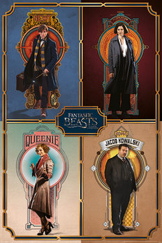 Fantastic Beasts And Where To Find Them - Framed Cast Poster