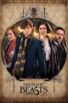 Fantastic Beasts And Where To Find Them - Group Frame Poster