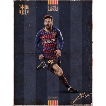 FC Barcelona - Messi Vintage Reproducere