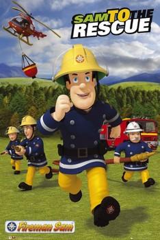 FIREMAN - sam rescue Poster