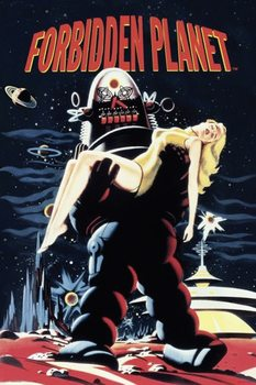 FORBIDDEN PLANET - robby carrying woman Poster