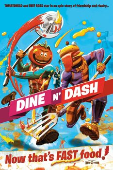 Fortnite - Dine and Dash Poster