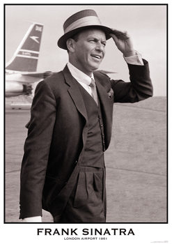 Frank Sinatra - London Airport 1961 Poster