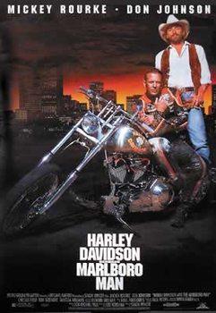 Harley Davidson and Marlboro man Poster