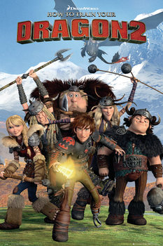 How to Train Your Dragon 2 - Cast Poster