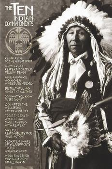 Indians - ten Indian commandments Poster