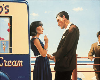 Jack Vettriano - The Lying Game Reproducere