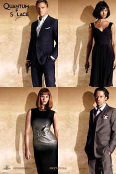 JAMES BOND 007 - quantum of solace quartet Poster
