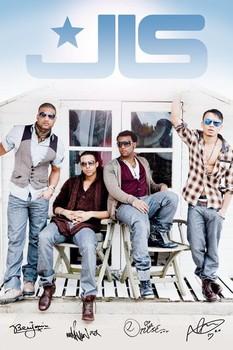 JLS - beach hut Poster