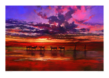 Jonathan Sanders - African Sunset Reproducere