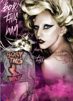 Lady Gaga Poster 3D