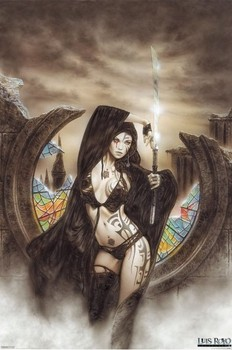 Luis Royo - stained Poster