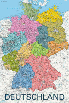 Map - deutschland political 2011 Poster