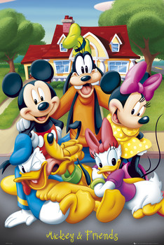 MICKEY MOUSE - with friends Poster