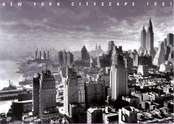 New York Cityscape 1931 Poster